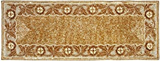 Linen Clubs Hand Made Beaded Table Runner 13x36 Inch in Gold/Ivory Combo Colors,Produced by Skilled Village Artisans in India - A Beautiful Complements to Dinner Table Decor Offered