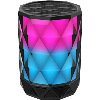 Portable Bluetooth Speakers With Lights, SHAVA Diamond Wireless LED speaker  with auto color changing, Speakerphone with TWS feature for Bluetooth