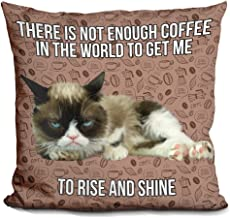 LiLiPi There Is Not Enough Coffee In The World To Get Me To Rise And Shine Decorative Accent Throw Pillow