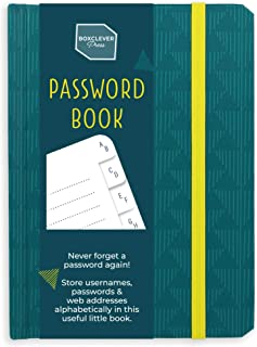 Boxclever Press Password Book with Alphabetical tabs. Never Forget a Password Again!..