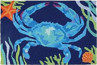 Jellybean Deep Blue Crab Coastal Indoor/Outdoor Machine Washable 21