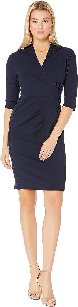 Side Pleat Wrap Shirtdress