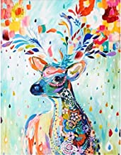 Diamond Painting Art,Colorful Deer Full,Round Diamond Drill,Embroidery Jewel Painting for Wall Decor and Gift,Gem Art Craf...