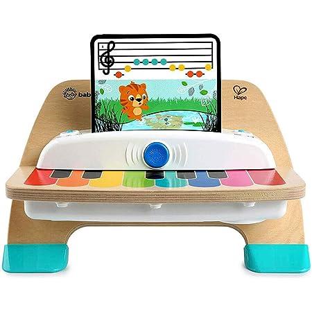 Baby Einstein Hape, Piano Magic Touch, jouet musical en bois, comprend 3 partitions et 6 chansons différentes, à partir de 12 mois