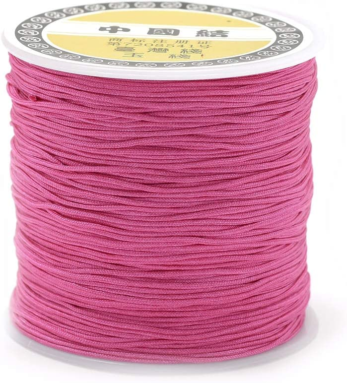 Pandahall 109Yards Jewelry Sales for sale Nylon Cord Knotting Cor Chinese Max 77% OFF 0.8mm