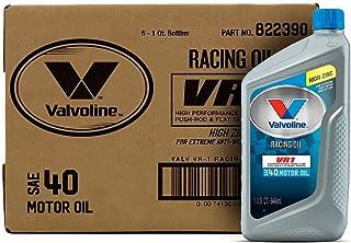 Best Valvoline - VV229-6PK VR1 Racing SAE 40 Motor Oil 1 QT, Case of 6 Review