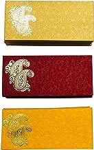 KRIWIN Pack of 75 Shagun Double Ambi Motif Rectangle Shape Sagan Gift Envelopes for Weddings, Birthdays, Baby Shower, Anniversary
