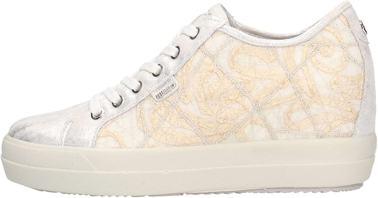 IGI&CO shoes Woman Low Sneakers with Wedge 1150111 Bianco