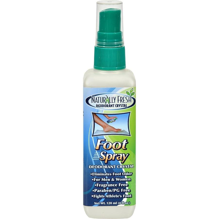 スポーツ硬さクルーNaturally Fresh Deodorant Crystal Foot Spray 120 ml (並行輸入品)
