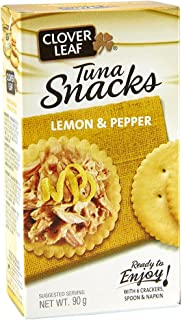 Clover Leaf Tuna Salad Kit Lemon Pepper, 12 Count