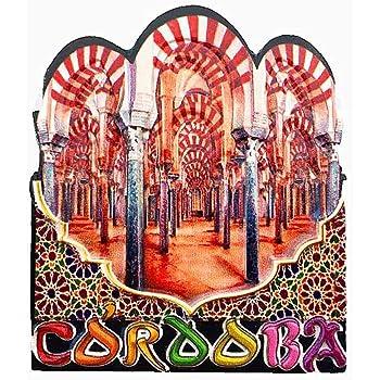 Córdoba España imán de nevera 3D artesanía recuerdo resina imanes refrigerador colección regalo de viaje: Amazon.es: Hogar