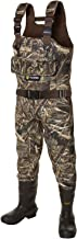TIDEWE Hunting Wader, 5mm Neoprene Chest Waders with 1200 Gram Insulation Rubber Boots, Waterproof and Durable Seam Sealed Bootfoot Chest Wader for Fishing and Hunting (Realtree Max 5)