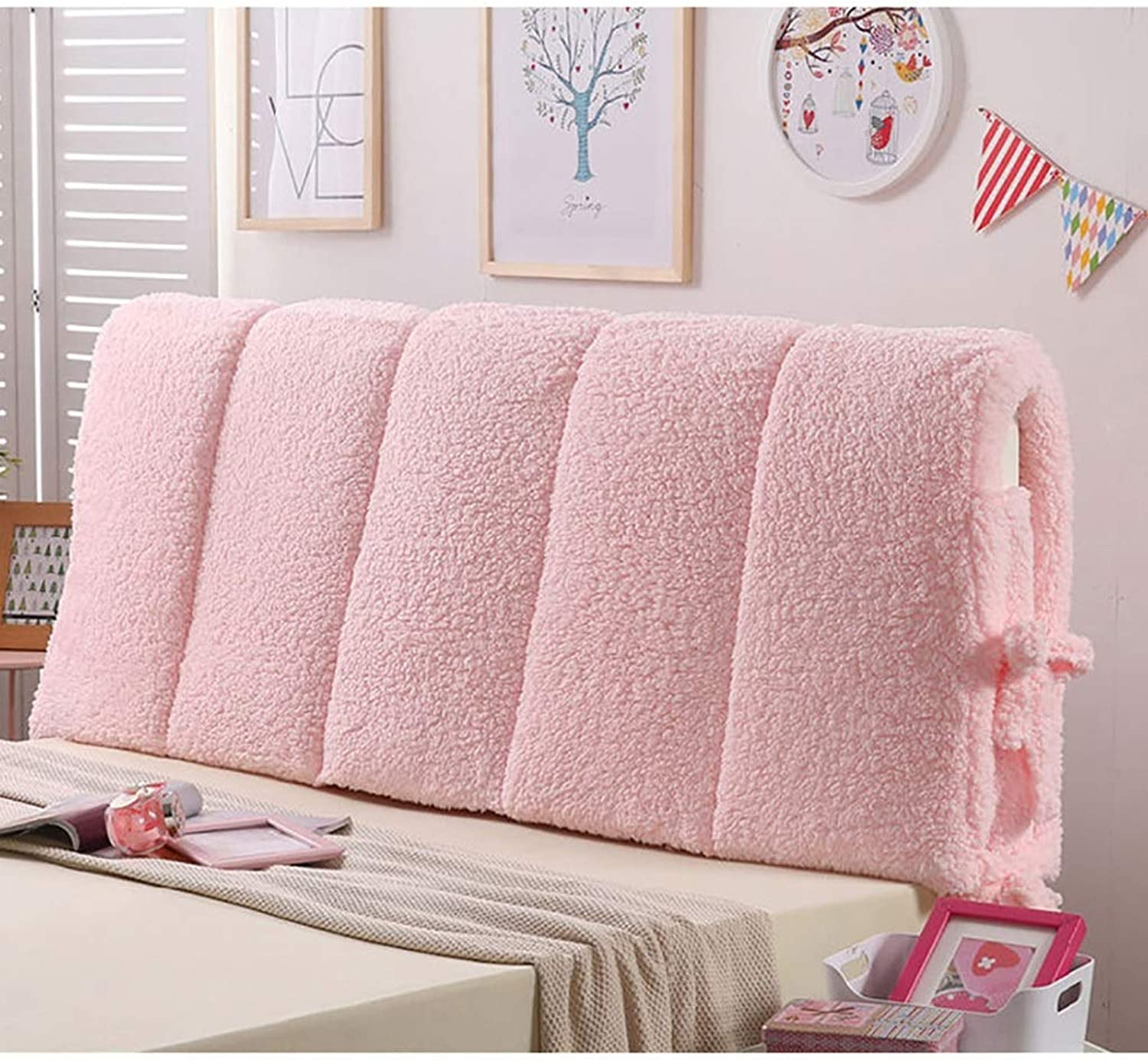 Large Soft Upholstered Headboard Cushion Wall Pillow Lumbar Pad Bed Backrest Breathable Removable Washable (color   A, Size   210cm)