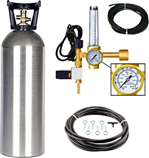 Grow Crew Hydroponic CO2 Enrichment Kit | Includes 20 lb Aluminum CO2 Tank, Carbon Accelerator CO2 Regulator, and Active Air Rain System to Shower Your Plants with CO2
