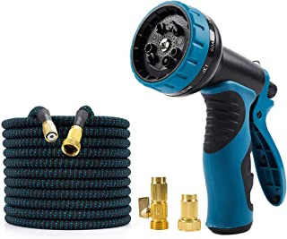 2021 Upgrade Flexable Water Hoses -50FT Expandable Garden Hose with 9-Function High-Pressure Spray Nozzle, Heavy Duty Flex...