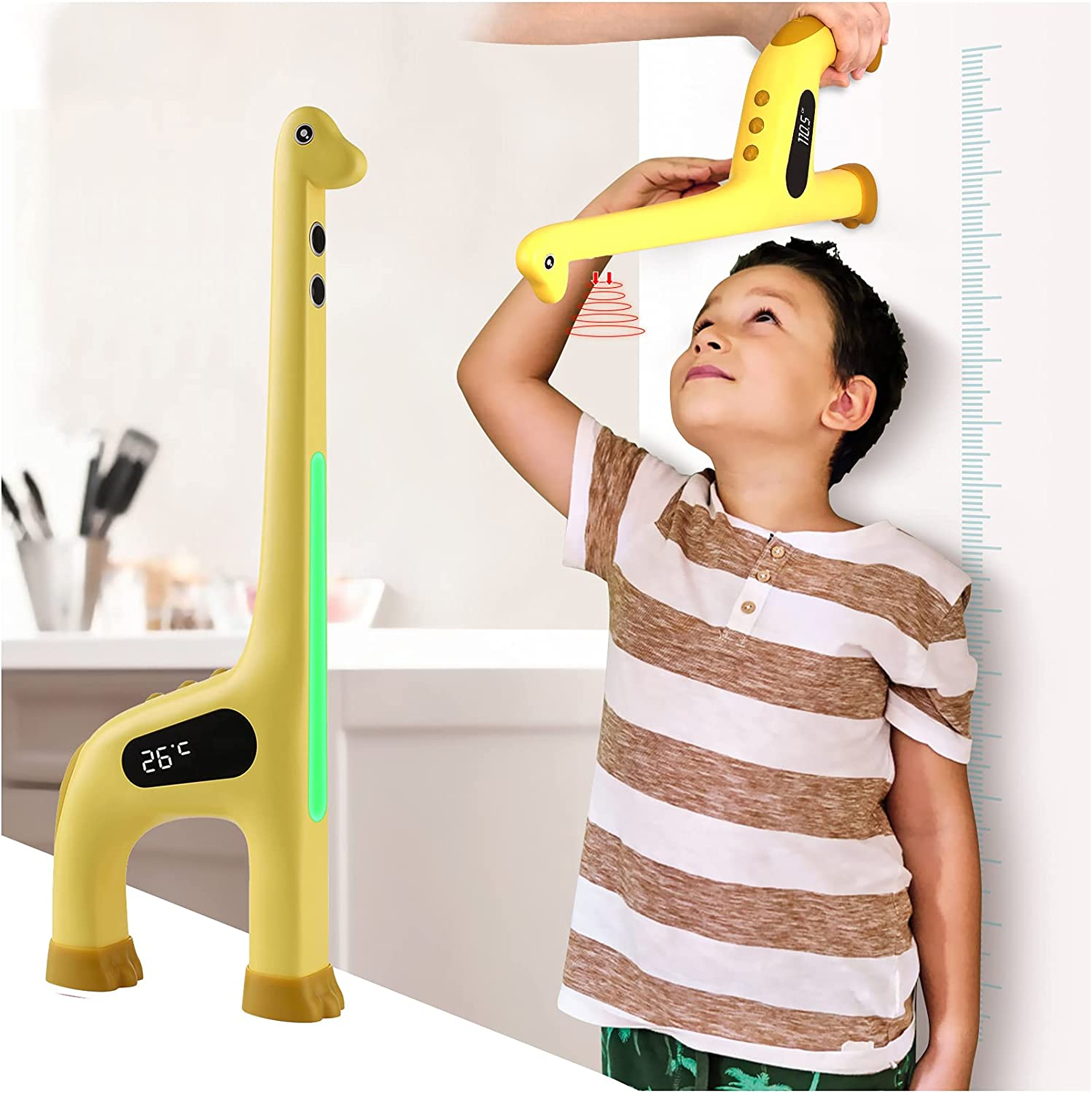 Smart Giraffe Growth Chart for Kids Sale price Night - with Colorful Light Max 74% OFF