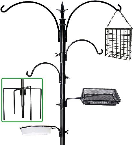 """2021 yosager 91"""" x 23"""" Premium Bird Feeding Station Kit, Bird Feeder Pole Wild Bird Feeder Hanging Kit outlet sale with 2021 Metal Suet Feeder Bird Bath for Bird Watching Birdfeeder Planter Hanger online sale"""