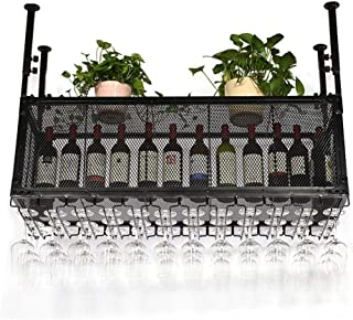 YZ-YUAN Présentoir de Tasse de vin Durable Suspendus étagères flottantes en Fer de Style européen pour Le Support d'organi...