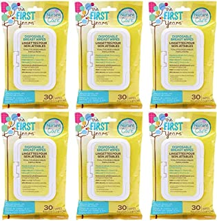 TFY Soothing Breast Wipes, 30 Count (6 x 30ct) 180 Total Wipes