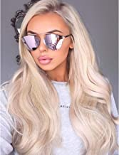 Wavy Platinum Ash Blonde Lace Front Wigs Middle Parting And Natural Hairline Platinum Blonde Synthetic Hair Replacement Wigs For Women 22 Inches Soft Lace Mixed Platinum Long Synthetic Blonde Wig