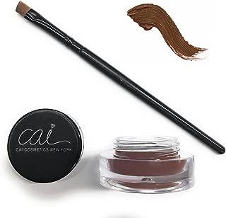 Cai Cosmetics Gel Eyeliner & Brush 2-Piece Set Stay All Day Waterproof (Brown)