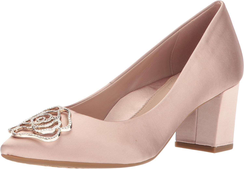 Taryn pink Womens MACI Crystal Satin Pump