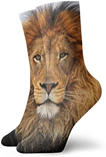 Luxury Calcetines de Deporte Big Cat Lion Pattern Women & Men Socks Soccer Sock Sport Tube Stockings Length 11.8Inch