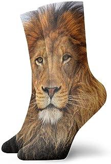 Luxury Calcetines de Deporte Big Cat Lion Pattern Women & Men Socks Soccer Sock Sport Tube Stockings Length 11.8Inch