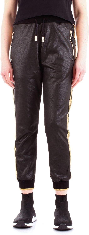 4US CESARE PACIOTTI Women's TA5109black Black Cotton Pants
