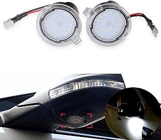 NATGIC 2pcs LED Avant sous Miroir Lumière Rétroviseur Lumières Rétroviseur Latéral De Voiture Flaque Lumières Voiture Bien...
