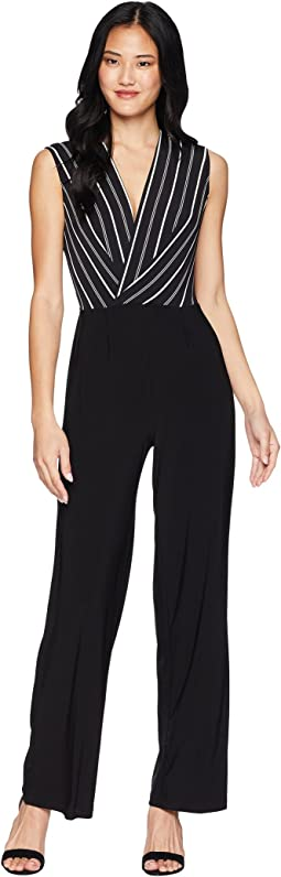 Cross Wrap Woven Top Jumpsuit