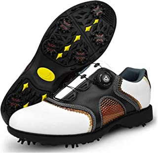 أحذية جولف KCLQTK للرجال مقاومة للماء ومسامية، وممتص للصدمات، ومضاد للانزلاق، أحذية رياضية لممارسة الغولف في الهواء الطلق...