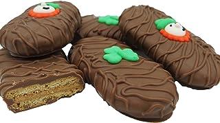 Philadelphia Candies Milk Chocolate Covered Nutter Butter® Cookies, St. Patrick's Day Leprechaun Shamrock Gift Net Wt 8 oz