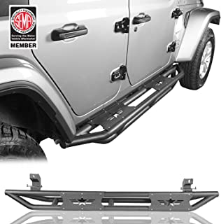 Jeep Wrangler JL Unlimited Side Step Running Board Nerf Bars for 2018 2019 2020 Jeep Wrangler 4 Door