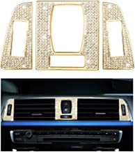 1797 Compatible AC Vents Caps for BMW Accessories Parts Bling Air Conditioning Covers Decal Interior Decorations 2 3 4 Series M2 M3 M4 F22 F30 G20 F32 F87 F80 F82 xDrive AWD Women Men Crystal Gold