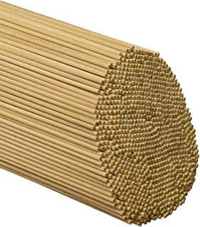 Wooden Dowel Rods – 1/8 x 18 Inch Unfinished Hardwood Sticks – for Crafts and DIY'ers – 100 Pieces by Woodpeckers