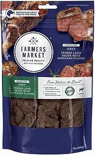 Farmers Market Pet Food Premium Natural Grain-Free Jerky Dog Treats, 7 oz bag
