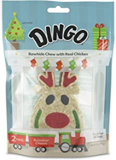 Dingo Holiday Rawhide Chews, Fun Holiday Themed Chew Treats for Dogs