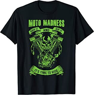Moto Madness Dad Shirt T-Shirt And Biker Grandpa Racing Tee