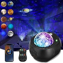 Ster Projector Nachtlampje, SOLMORE Galaxy Projector Light Star Light Projector Galaxy Met Planeten Ingebouwde Bluetooth S...