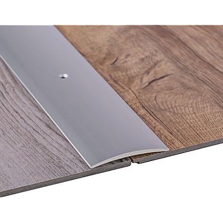 Gedotec Barre de seuil à visser 5 x 100cm - qualité allemande - Vis incluses - Aluminium