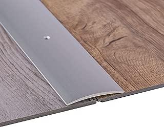 Perfil de grueso GedoTec a través de agujeros aluminio anodizado a través de velocidades de riel de perfil del suelo | De ancho de 30 - 40 - 50 mm | 3 coloures | 100 cm o de 200 cm | Made in Germany, aluminio plateado anodizado, 50 x 1000 mm