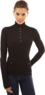 Women V Neck Button Ribbed Sweater