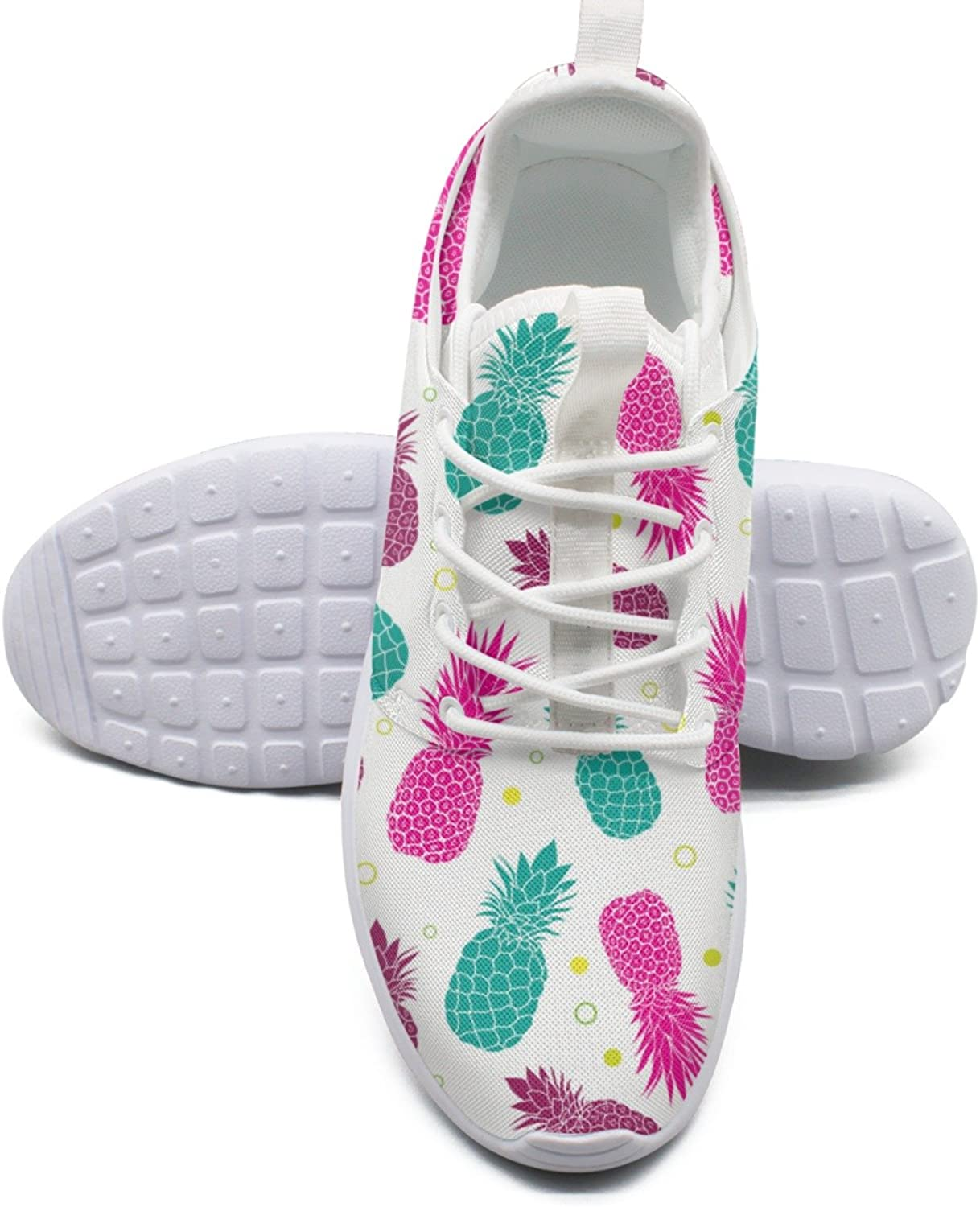 ERSER Green Pink Pineapples Summer colorful Cute Running shoes for Women