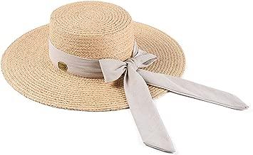 Wide Brim Sun Hat Female Bow Straw Hats for Women Summer Beach Ladies Designer Brand Travel Boater Hat