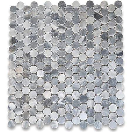 Honed Oracle Tile /& Stone Marble Pinwheel Mosaic Tile with Blue /& Gray Oriental White Eastern White