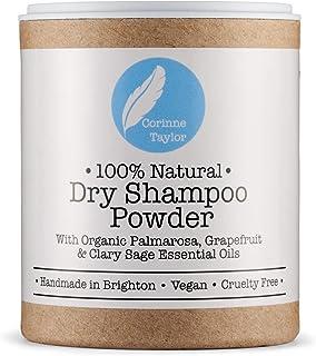 Corinne Taylor - Champú seco en polvo, 100% natural, orgánico, vegano y no testado en animales. 85 g