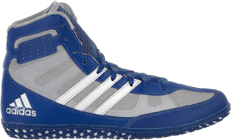 Adidas Mat Wizard Men's Wrestling shoes, Royal White Grey, Size 9