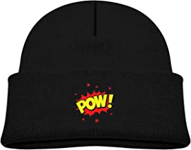 hgdfhfgd Word Bubble Pow Baby Infant Toddler Winter Warm Beanie Hat Cute Kids Thick Stretchy Cap Keep Warm 19449