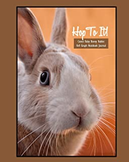 Hop To It! Cutest Baby Bunny Rabbit Graph (4x4) Notebook Journal